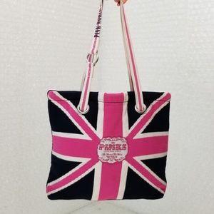 VS Pink Union Jack knit tote bag